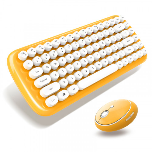 Candy 系列 - 黃色 鍵盤連滑鼠套裝 - 糖果歀系列