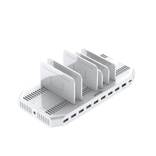 160W 10-Port USB Smart Charging Station